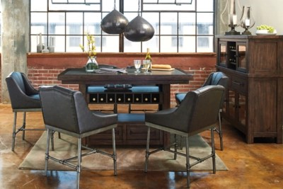 bar chairs with backs singing potty chair starmore counter height dining room table | ashley furniture homestore