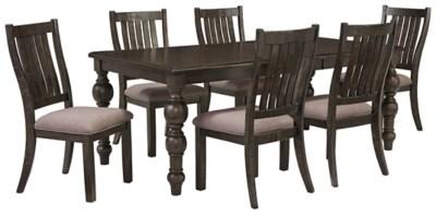 ashley furniture 14 piece living room sale dark brown couch ideas townser 7-piece dining   homestore