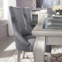 Ashley Furniture Dining Room Chairs Famous Chair Designs Coralayne Table Homestore Diamond Tufted Gray Upholstered And Formal Tables
