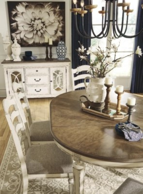 dining chair seat covers b and m desk combo realyn room table ashley furniture homestore images