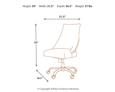 office chair diagram wheelchair ramp plans program home desk ashley furniture homestore large