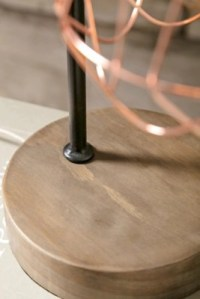 Tilton Copper and Wood Table Lamp | Ashley Furniture HomeStore