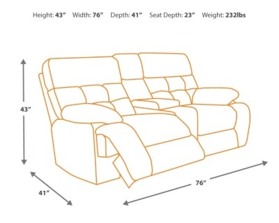 dual reclining sofa and loveseat compact full size bed darshmore glider with console   ashley ...