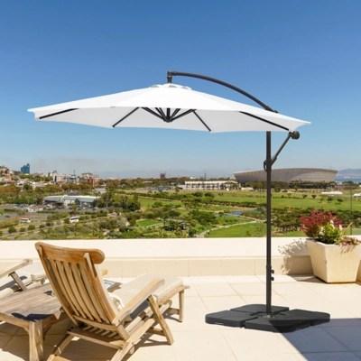 10 ft outdoor cantilever hanging patio umbrella