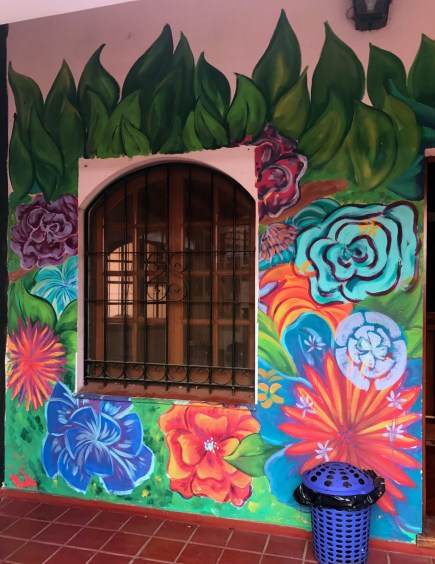 Mural painted on the house - done by a resident.