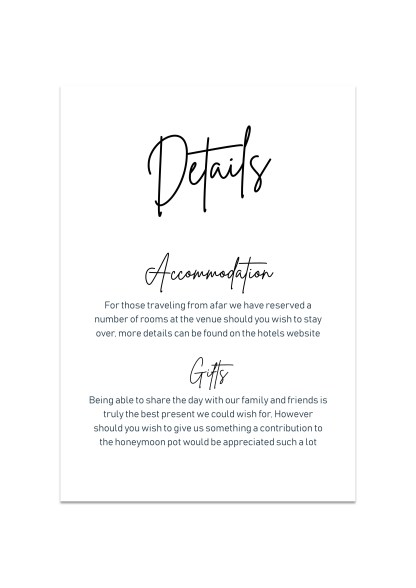 Wedding Detials