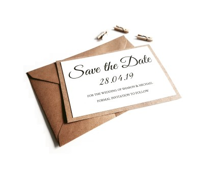 Rustic Ivory Save the Date