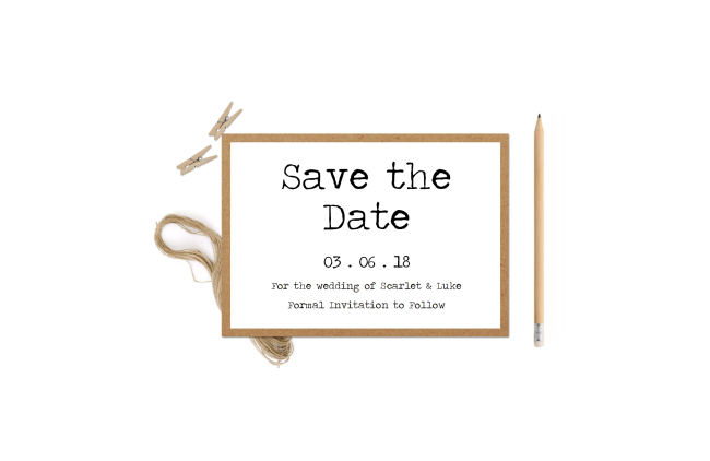 Rustic Typewriter Save the Date