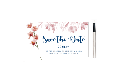 Dusky Rose Save the Date
