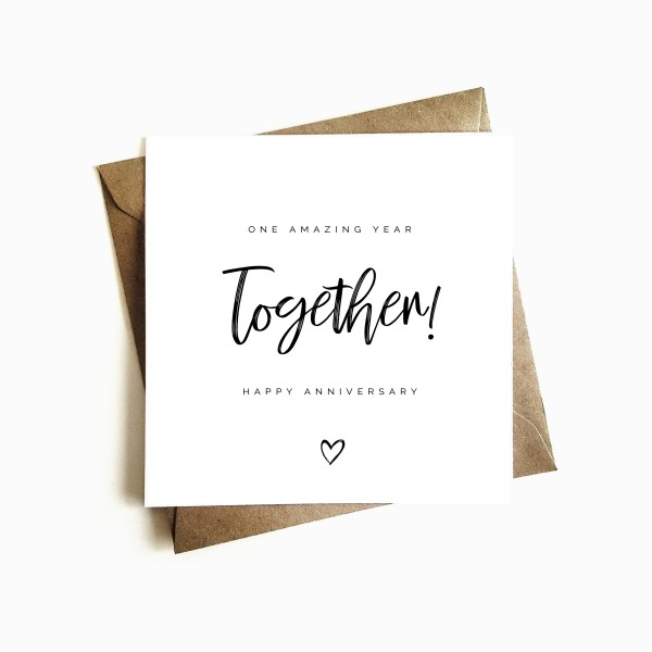 'One year Together' Anniversary Card