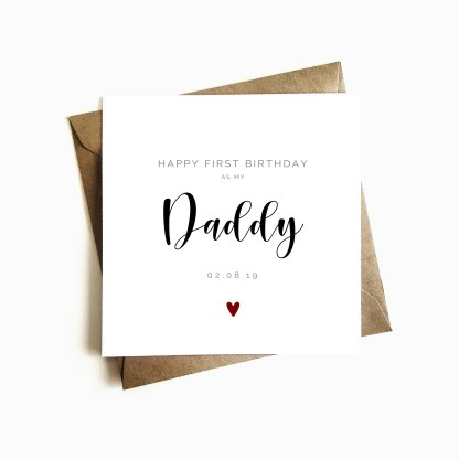 First birthday as my daddy card