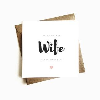 Wife Birthday Card