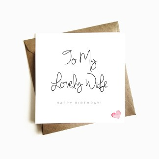 Lovely Wife Birthday Card