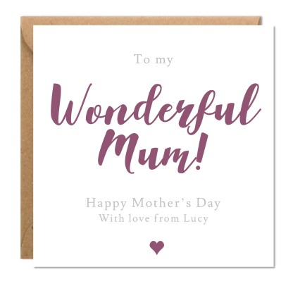 Personalised Mother's Day Card