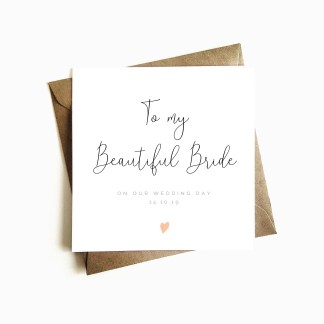 Personalised Wedding Day Card - Bride