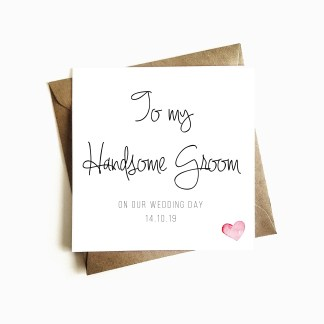 Personalised Wedding Day Card - Groom