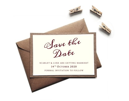 Rustic Save the Date