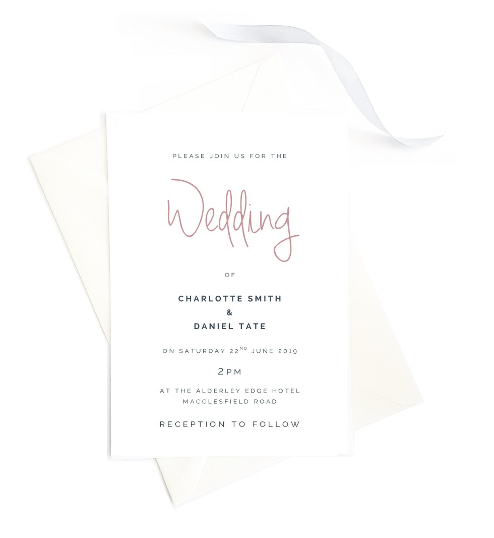 Contemporary Wedding Invitation