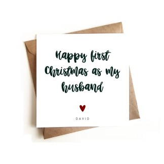 First Christmas as my Husband card