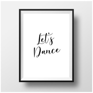 'Let's Dane' Typography Print