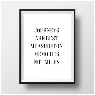 Journeys are measured in memories Print