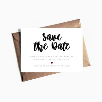 Bespoke Save the Date