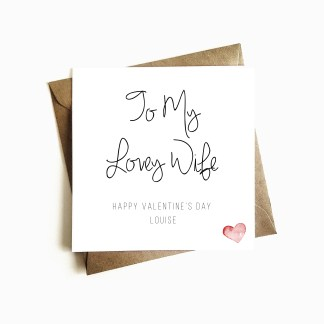 Personalised Valentine's Day Card