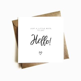 Just to say hello card