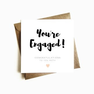 'You're Engaged' Card