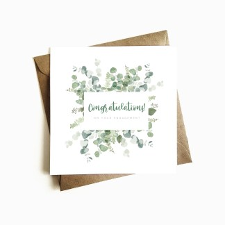 Botanical Engagement Card