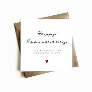 'Son & Daughter-in-law' Anniversary Card