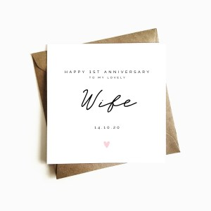 Personalised Wife 1st Anniversary Card