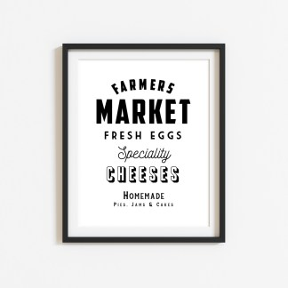 'Farmers Market' Kitchen Print