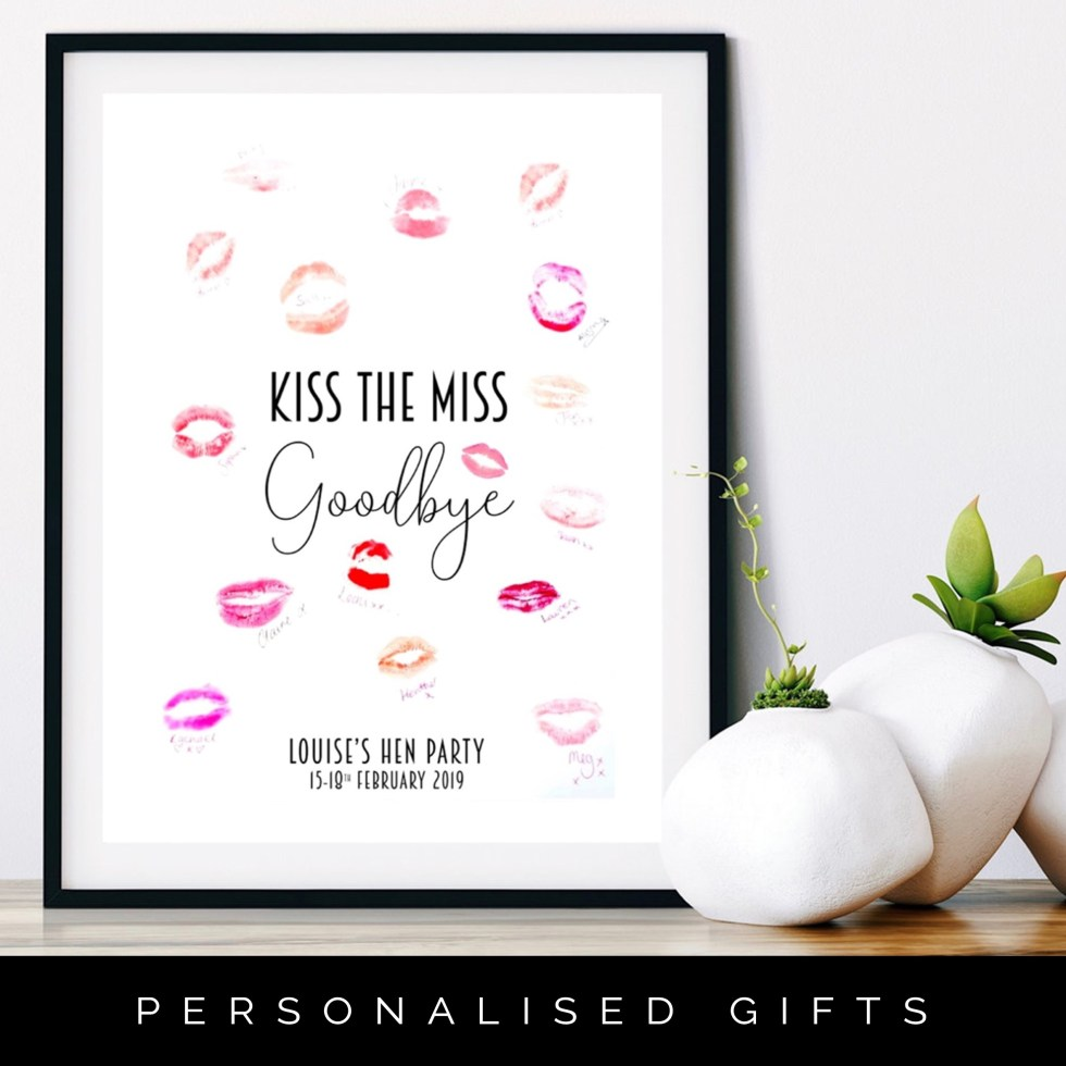 Kiss the Miss Goodbye Print