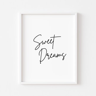 'Sweet Dreams' Bedroom Print