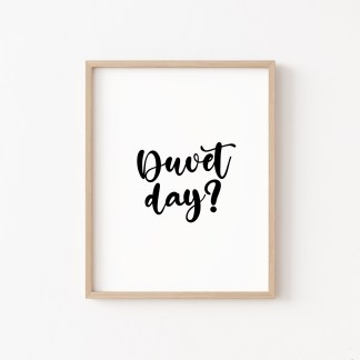 'Duvet Day' Bedroom Print