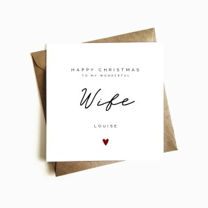 Personalised Wife Birthday Card