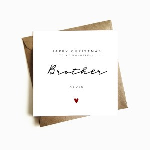 Personalised Brother Christmas Card