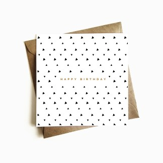 Deco Birthday Card - Black & Gold