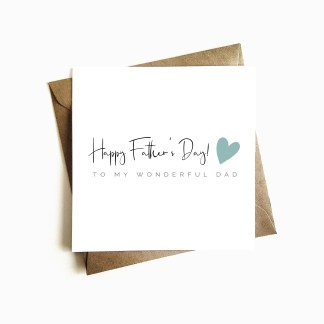 'Wonderful Dad' Father's Day Card