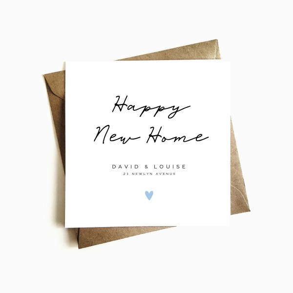 Personalised New Home Card