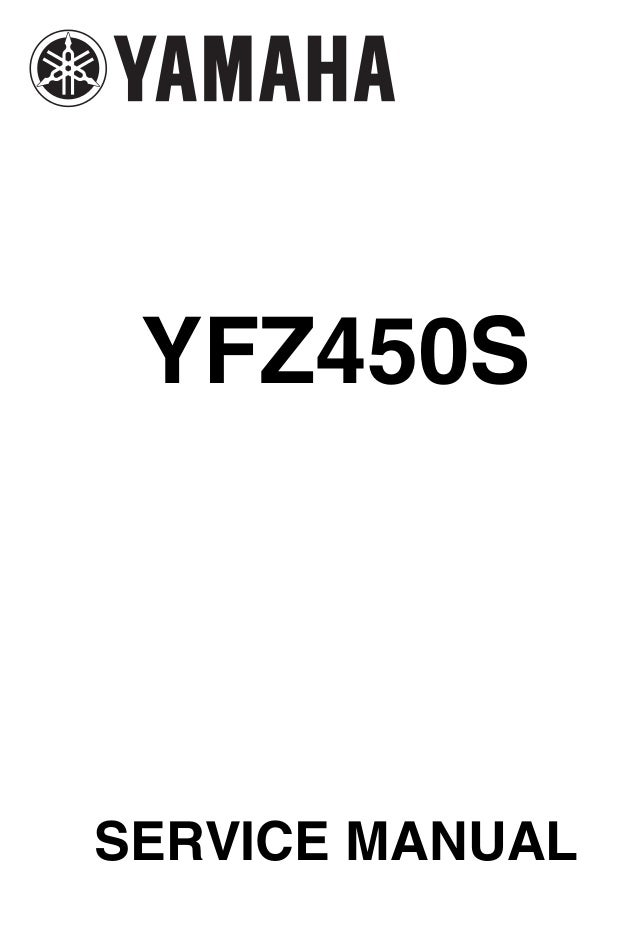 Yamaha yfz 450 service manual