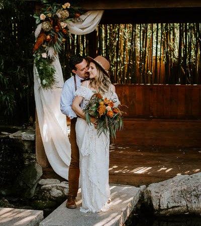 Asheville Elopement Fall boho wedding in Asheville North Carolina by Ashley Leffew Photography