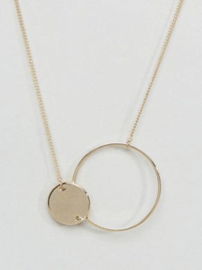ASOS | Limited Edition Solid and Open Circle Necklace Safari, Today at 20.03.30