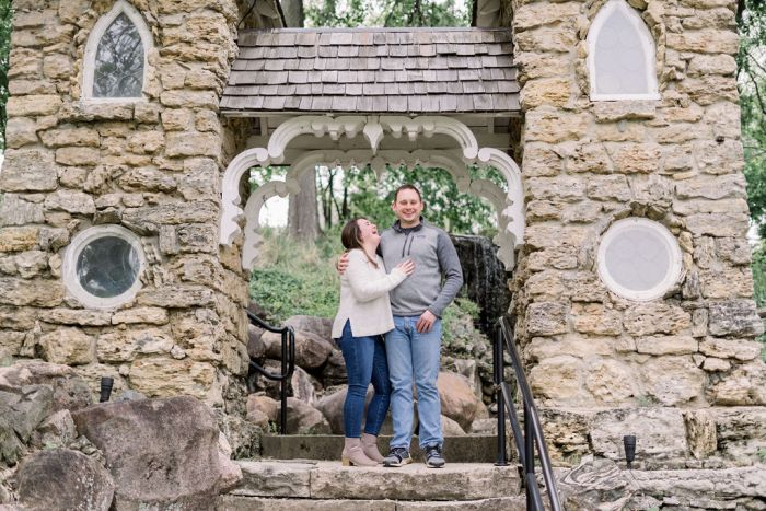 VA Grotto Gardens Outdoor Engagement Session