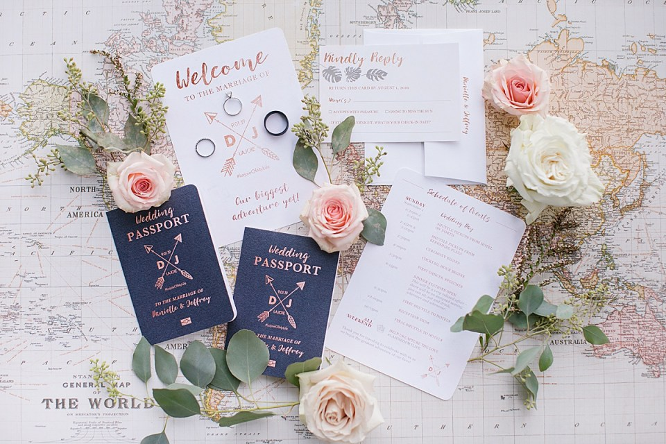 vintage wanderlust wedding details photographed by Ashley Mac Photographs