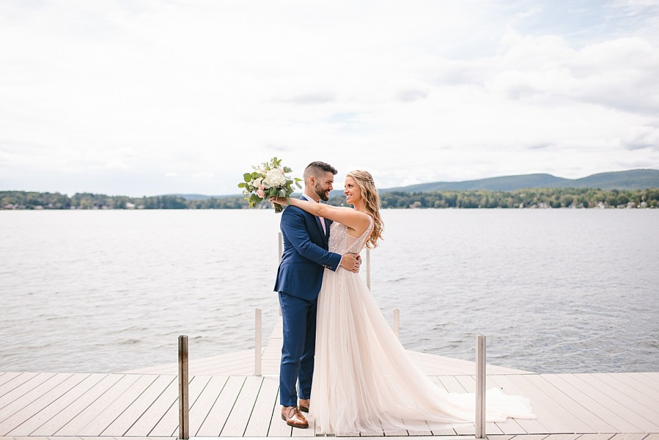 lakefront wedding day in Lanesboro MA with Ashley Mac Photographs