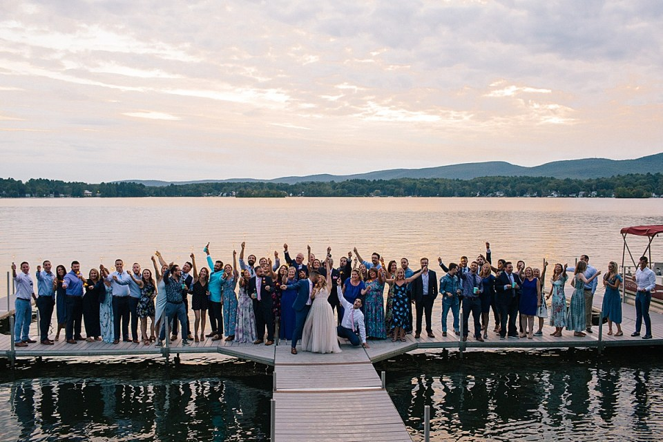 Lake House wedding guests photographed by Ashley Mac Photographs