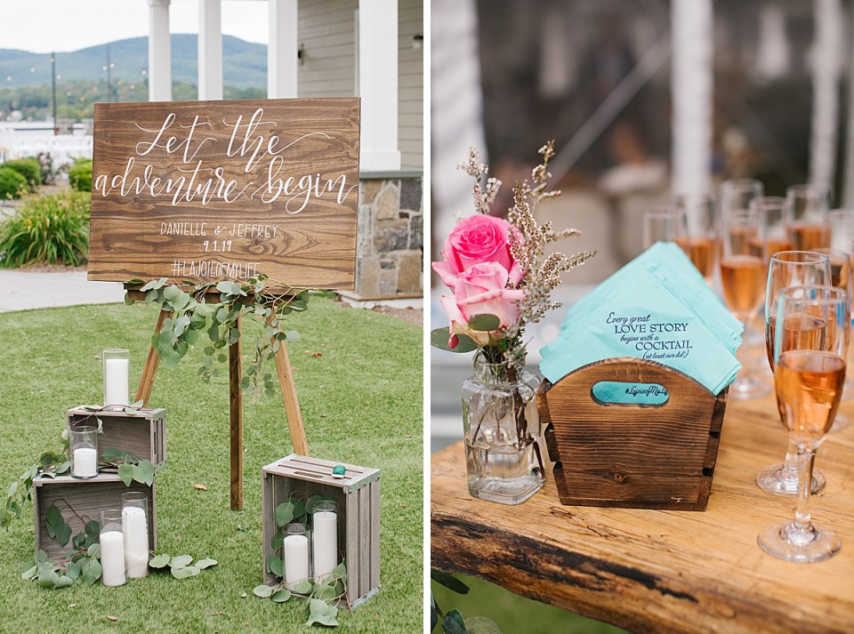 vintage inspired wedding decor at Lake House with Ashley Mac Photographs