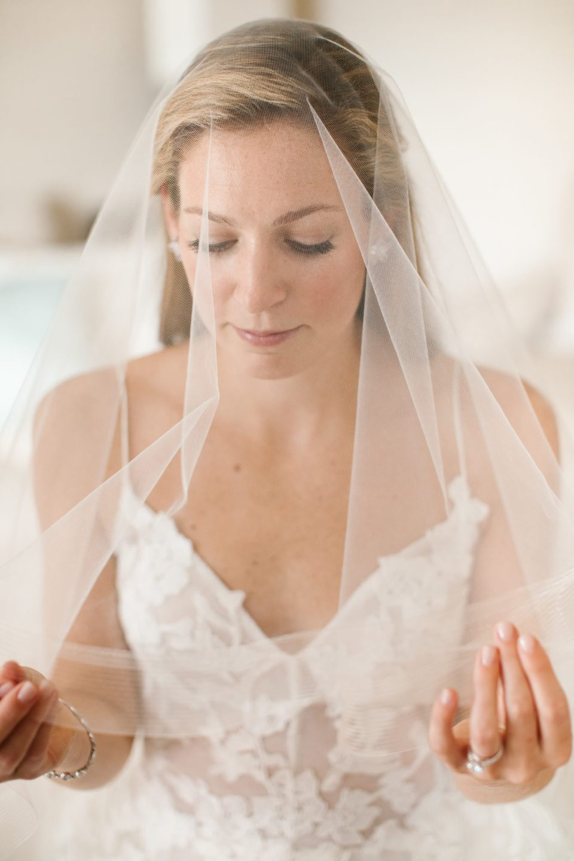 bride's portrait under veil photographed by Ashley Mac Photographs